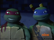 Raph and Leo smiling