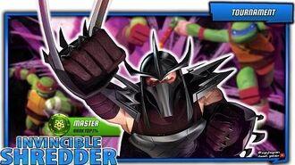 Master Shredder in Master TOP Rank 1% PVP. Teenage Mutant Ninja Turtles Legends Android iOS gameplay