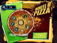 Wheel O' Pizza Minigame gameplay
