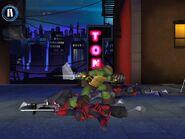 Raphael after finishing the Turtle Rime minigame