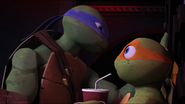 Mikey also Used Leonardo's Favorite Space Heroes Comic Book as Toilet Paper