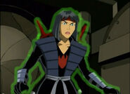Karai's body immobilized
