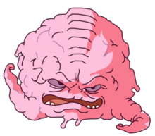 Out of gear-Krang when his suit is destroyed