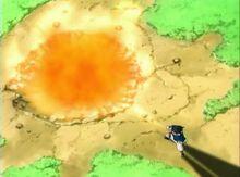 Sasuke usando Gōkakyū no Jutsu