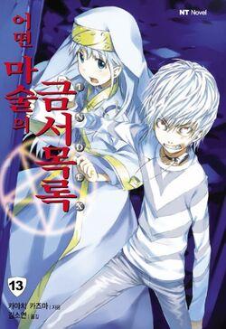 Toaru Majutsu no Index Light Novel v13 Korean cover