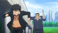 Touma being chased