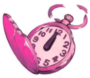 Salome's pink toy watch