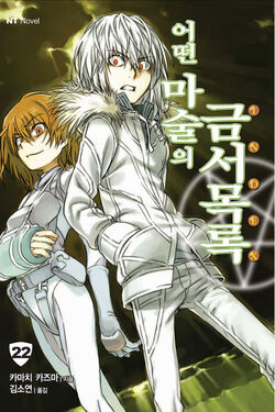 Toaru Majutsu no Index Light Novel v22 Korean cover