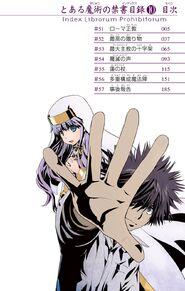 Toaru Majutsu no Index Manga v10 Table of Contents