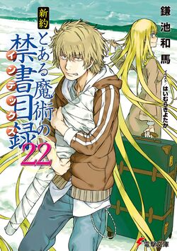 Shinyaku Toaru Majutsu no Index Light Novel v22 cover
