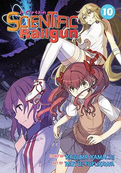 A Certain Scientific Railgun Manga v10 cover