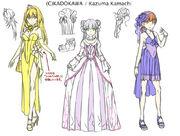 Heroines' dresses