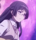 Long hair with glasses (Shokuhou's Clique, Anime)