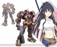 Kanzaki Kaori & Apharmd C (Virtual-On game)