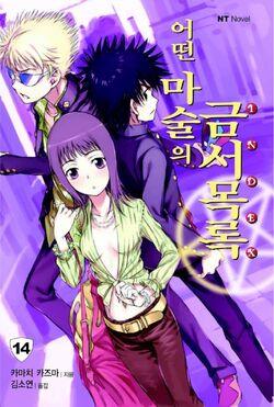Toaru Majutsu no Index Light Novel v14 Korean cover