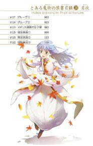 Toaru Majutsu no Index Manga v20 Table of Contents