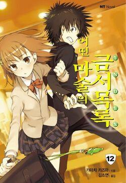 Toaru Majutsu no Index Light Novel v12 Korean cover