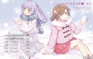 Toaru Majutsu no Index Manga v21 Table of Contents