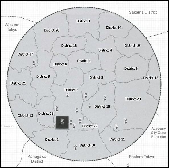 Academy city map