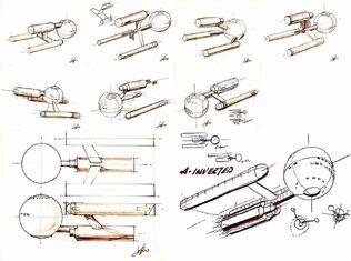 Early USS Enterprise design concepts Matt Jefferies