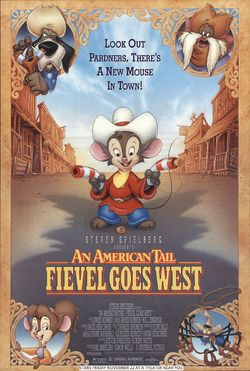 An American Tail Fievel Goes West (1991) Poster