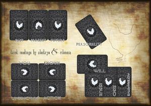 Tarot card placard