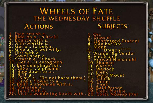 Wednesday Shuffle