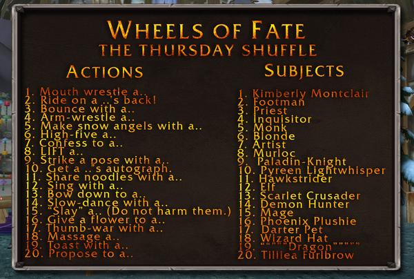 Thursday Shuffle