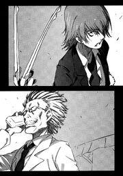 Teitoku se enfrenta al Profesor