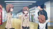 Touma junto a Mikoto, Misaka 10032 y Last Order