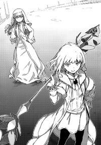 Index y Leivinia con la replica de Gungnir