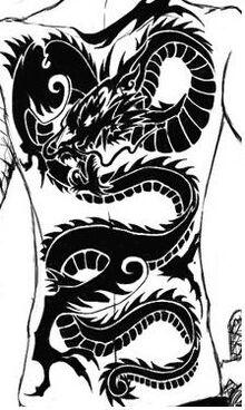 Skadi back tattoo