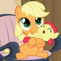 Applejack y su hermana applebloom