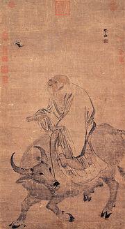 Zhang Lu-Laozi Riding an Ox