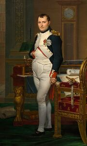 800px-Jacques-Louis David - The Emperor Napoleon in His Study at the Tuileries - Google Art Project