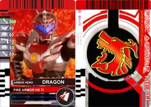 1 1 1 1 Armor Fighter Dragon Warrior Card