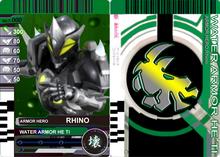 1 1 1 1 Armor Fighter Rhino Warrior Card