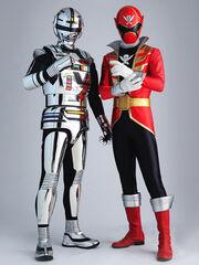 Gokai Red + Gavan