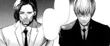 Yoshitoki e Arima al cospetto del Presidente