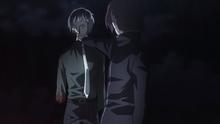 Kanae holding Haise anime