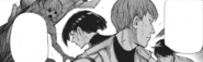 Ui and Hirako fighting the lifeless husks created by kaneki's kagune