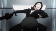 Furuta attacks Haise in Cochlea anime