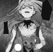 Kurona reveals something on her body