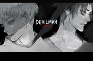 Ishida's illustration of Devilman Crybaby