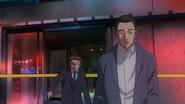 Kusaba and Nakajima on a crime scene 1