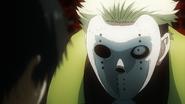 Yamori with mask torturing Kaneki