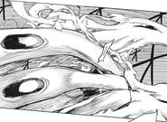 Akira blocking Tatara's flame with Fueguchi II
