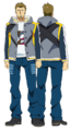 Banjou anime design full view.png