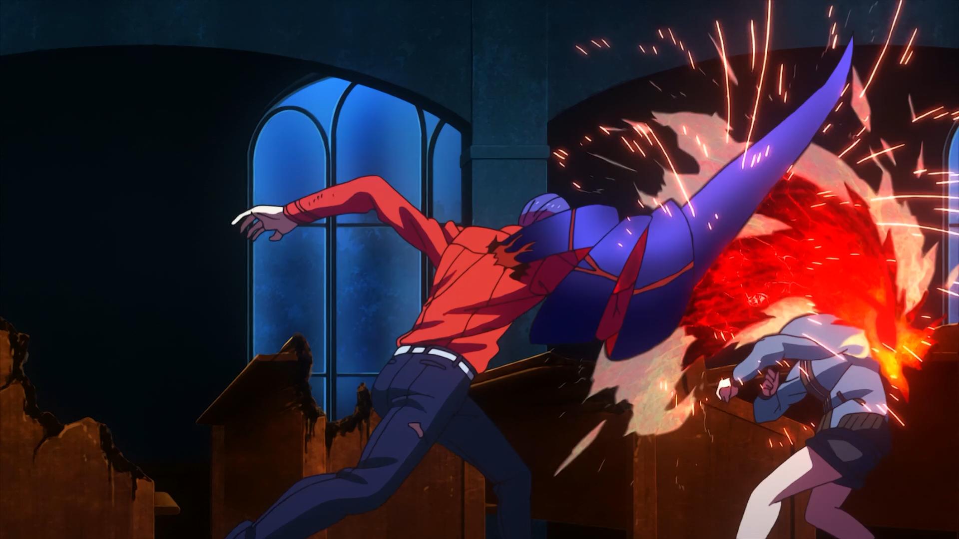 Tsukiyama and Touka kirishima fighting in Toukyo ghoul