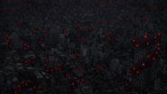 Dragon coiled around Tokyo anime